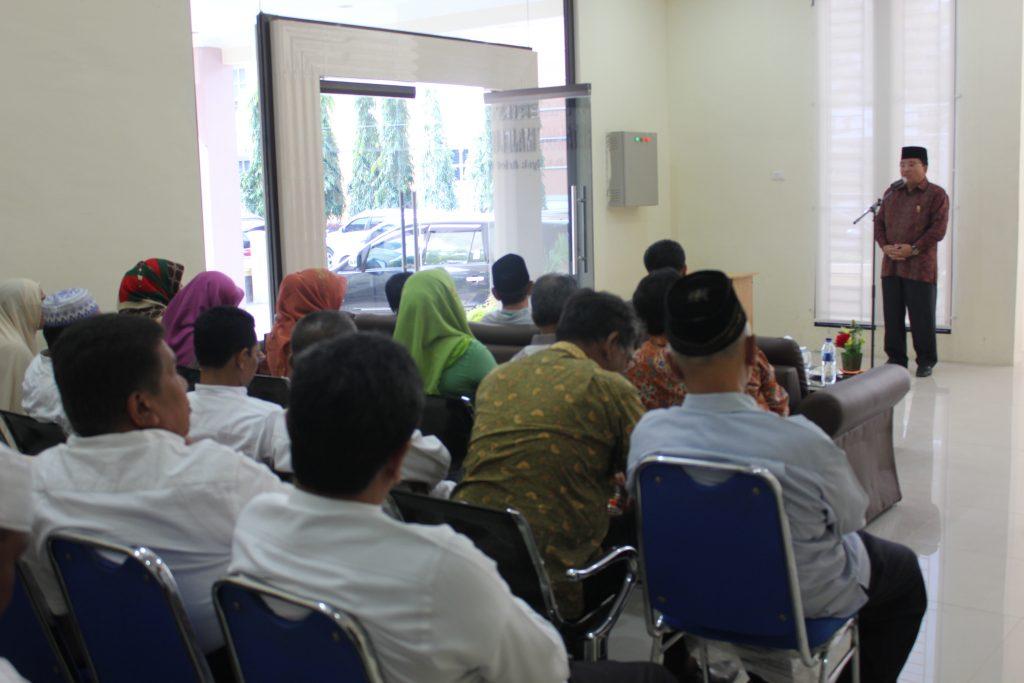 Kata - kata sambutan dari Ketua MPA Prof.Dr. Warul Walidin, Ak,MA
